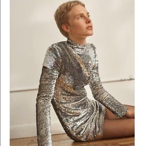 Helmut Lang silver disco dress NWT size med and XS